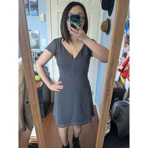 Dynamite Polka Dot Fit & Flare Dress
